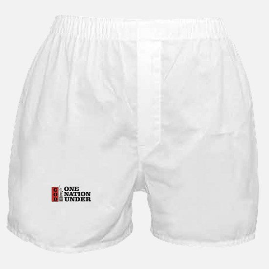 one nation under god liberty Boxer Shorts
