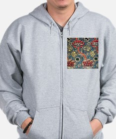 William Morris Zip Hoodie