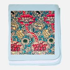 William Morris baby blanket