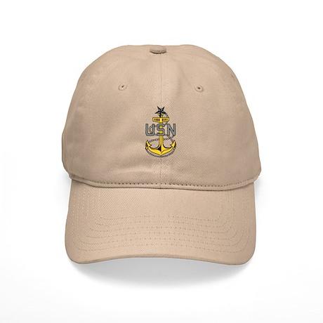 Senior Chief<BR> White Or Khaki Cap
