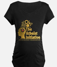 The Atheist Initiative with Red Button T-Shirt