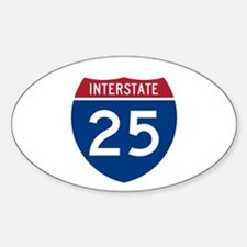I-25 Highway Oval Decal