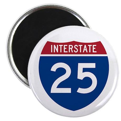 """I-25 Highway 2.25"""" Magnet (100 pack)"""