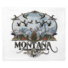 Montana wildlife King Duvet