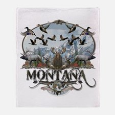Montana wildlife Throw Blanket