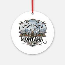 Montana wildlife Ornament (Round)