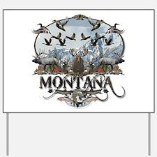Montana wildlife Yard Sign