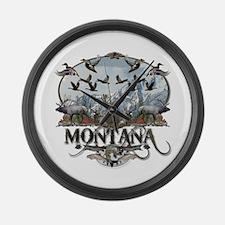 Montana wildlife Large Wall Clock