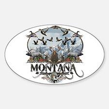 Montana wildlife Sticker (Oval)