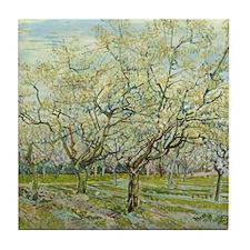 Van Gogh White Orchard Tile Coaster