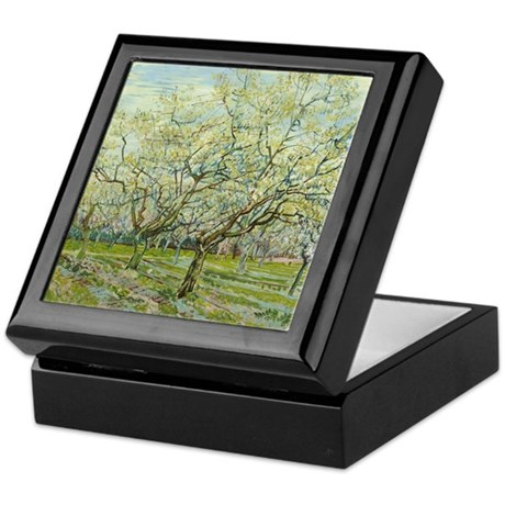 Van Gogh White Orchard Keepsake Box