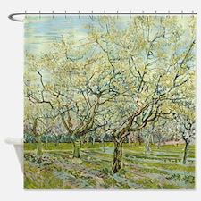 Van Gogh White Orchard Shower Curtain