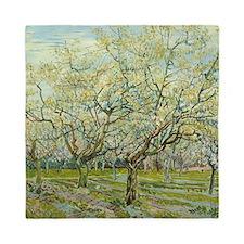 Van Gogh White Orchard Queen Duvet