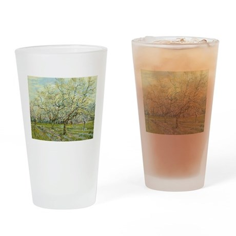 Van Gogh White Orchard Drinking Glass