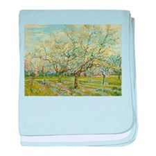Van Gogh White Orchard baby blanket