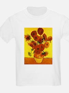 Van Gogh 15 Sunflowers (High Res) T-Shirt
