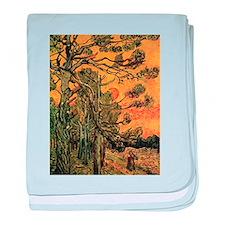 Van Gogh Pine Trees baby blanket