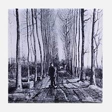Van Gogh Poplar Avenue Tile Coaster