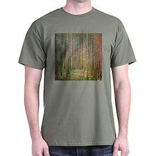 Gustav Klimt Pine Forest T-Shirt