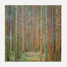 Gustav Klimt Pine Forest Tile Coaster