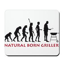 natural born griller Mousepad