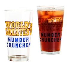 World's Greatest Number Cruncher Drinking Glass