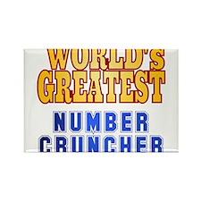 World's Greatest Number Cruncher Rectangle Magnet