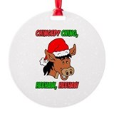 Dominick the itailian christmas donkey Round Ornament