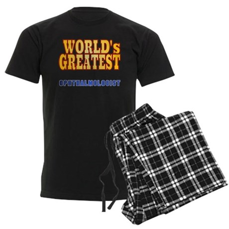 World's Greatest Ophthalmologist Men's Dark Pajama