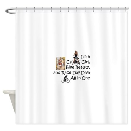Cycling Race Diva Shower Curtain