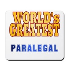 World's Greatest Paralegal Mousepad
