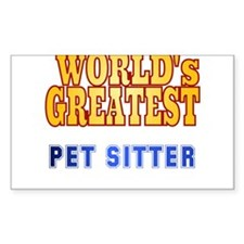 World's Greatest Pet Sitter Decal