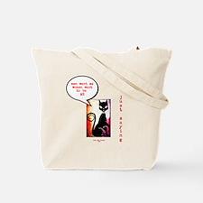 Funny Sexy Black Cat Diva Tote Bag