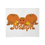 Halloween Pumpkin Joseph Throw Blanket