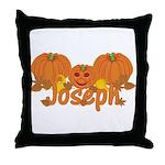 Halloween Pumpkin Joseph Throw Pillow