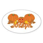 Halloween Pumpkin Joseph Sticker (Oval)