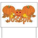Halloween Pumpkin Joseph Yard Sign