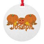 Halloween Pumpkin Joseph Round Ornament