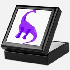 Purple Brachiosaurus Keepsake Box