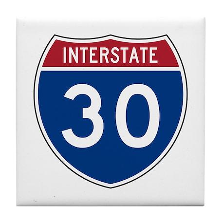 I-30 Highway Tile Coaster