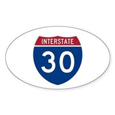 I-30 Highway Oval Decal
