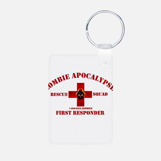 Zombie Rescue Squad Aluminum Photo Keychain