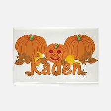 Halloween Pumpkin Kaden Rectangle Magnet