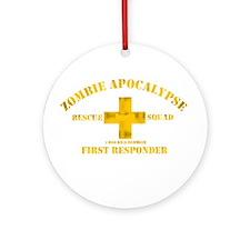 Zombie Rescue Squad Ornament (Round)