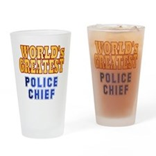 World's Greatest Police Chief Drinking Glass