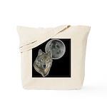 Wolf head Moon Tote Bag