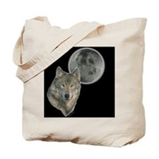 Wolf head Moon Tote Bag