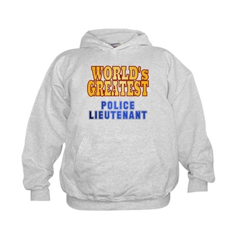 World's Greatest Police Lieutenant Kids Hoodie
