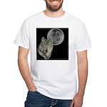 Wolf head Moon White T-Shirt