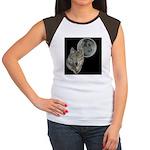 Wolf head Moon Women's Cap Sleeve T-Shirt